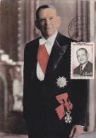 Carte Maximum FRANCE  N°Yvert  1412 (Président COTY) Obl Sp 1er Jour (Ed FDC) - 1960-69