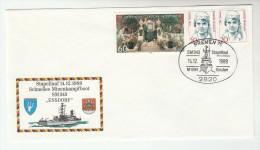 1989 GERMANY Navy SHIP MINDENKAMPFBOOT  SM343 ENSDORF COVER Stamps - Ships
