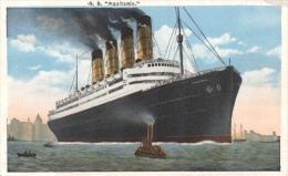 "Artist Drawn  -  S. S. ""Aquitania"" - Paquebote"