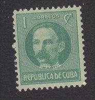 Cub, Scott #264, Mint Hinged, Jose Marti, Issued 1917 - Cuba