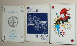 Rare Jeu de 54 cartes, SNCF Soci�t� Nationale des Chemins de Fer Fran�ais, Billet de Famille, carte, joker