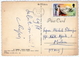 ST.THOMAS - VIRGIN ISLANDS YACHT HAVEN HARBORS/ WITH ANTIGUA THEMATIC STAMP UNIVERSAL POSTAL UNION - Vierges (Iles), Britann.