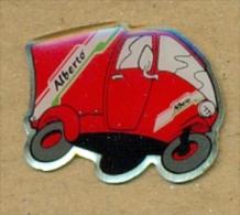 13-aut126. Pin Motocarro Alberto - Transportes