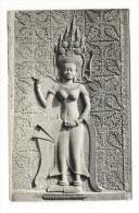 CAMBODGE  /  SIEMREAP  /  DIVINITE  FEMININE  À  ANGKOR-WAT  /  BEAUX  TIMBRES  ( 1967 ) - Cambodja