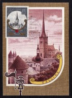 1980 - Rusia - Tarjeta Maxima - JJOO De Moscu - 008 - Eglises Et Cathédrales