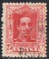 Spain SG383a 1922 Definitive 25c Die I Carmine-red Good/fine Used - 1889-1931 Kingdom: Alphonse XIII