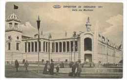 CPA BELGIQUE CHARLEROI EXPOSITION DE 1911 HALLS DES MACHINES - Charleroi