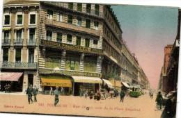 TOULOUSE  Rue Alsace Coin De La Place Esquirol Colorisée Tram Cachou Lajaunie  Recto Verso - Toulouse