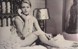 Karin Baal W Telephone Sexy Legs Real Photo Postcard 1965 - Acteurs