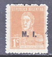 ARGENTINA  O D 163    *  M.I.   1923  Issue - Officials