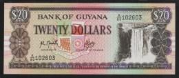 GUYANA  20 Dollars  ND (1989) Serie A80   P#27 - Guyana