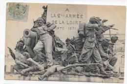 (RECTO / VERSO) LE MANS EN 1906 - N° 64 - MONUMENT A LA 2eme ARMEE DE LA LOIRE 1870 - 1871 - Le Mans