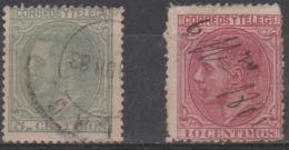 SPAIN - 1879 5c, 10c King Alfonso. Scott 243, 244. Used - Gebraucht