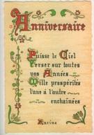 """Proverbes Enluminés  Anniversaire """" Puisse Le Ciel...""""  Racine   Roussel  TBE - Philosophie & Pensées"""