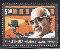 India MNH 2006,  A.V.Meiyappan AVM Film Producer, Film Director, Cinema, Camera, - Indien