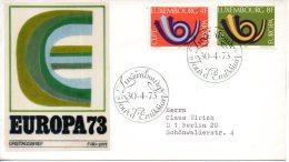 LUXEMBOURG. N°812-3 Sur Enveloppe 1er Jour De 1973. Europa´73. - 1973