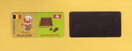 * MAGNET : Marque Repère ( LECLERC ) : Domino :  BELGIQUE..CHOCOLATS..Scans Recto Et Verso - Andere