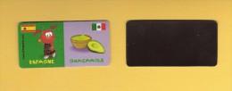 * MAGNET : Marque Repère ( LECLERC ) : Domino :  ESPAGNE..GUACAMOLE..Scans Recto Et Verso - Magnets