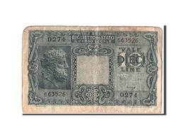 Italie, 10 Lire Type 1944 - [ 1] …-1946 : Royaume