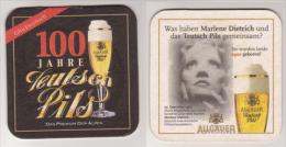 Teutsch Allgäuer Brauhaus 100 Jahre , Pils - Marlene Dietrich - Bierdeckel