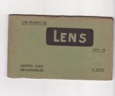 Carnet 62 Les Ruines De Lens 1914-1918 Complet 10 Cpa ( éditeur Maurice Dupriez Lille) - Lens