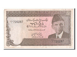 [#350296] Pakistan, 5 Rupees Type 1983-88 ND, Pick 38 - Pakistan
