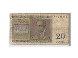 Belgique, 20 Francs Type 1956 - [ 2] 1831-... : Royaume De Belgique