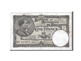 [#111123] Belgique, 5 Francs Type 1922-26 - [ 2] 1831-... : Belgian Kingdom
