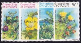 St Vincent Grenadines N°239/242 - 4 Valeurs - Neufs ** - Surchargés Spécimen - Superbe - St.Vincent & Grenadines