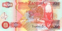 Zambia 50 Kwacha (1992) Pick 37b UNC - Zambia