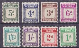 Salomon Taxe N°1/8 - 8 Valeurs - Neufs * - TB - Salomon (Iles 1978-...)