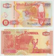 Zambia 50 Kwacha 2007 Pick 37f UNC - Zambia