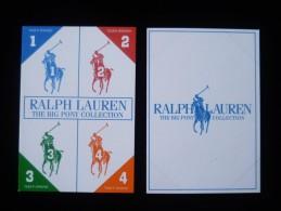 3 X Singapore Perfume Cards Carte Parfumee --  Ralph Lauren THE BIG PONY 1 2 3 4 COLLECTION - Modernes (à Partir De 1961)