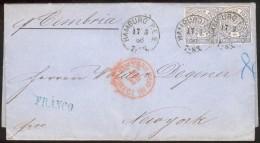 Hamburg, Auslandsbrief(NDP 2x 5) Hamburg P.E. 2 - New York, Feinst/pracht - Hamburg