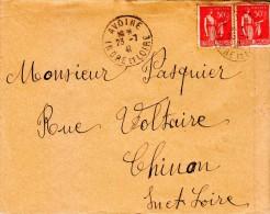 1941 - Cachet à Date De Avoine En Indre-et-Loire - FRANCO DE PORT - 1921-1960: Période Moderne