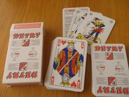 jeu de 52 cartes � jouer  - BOUCHERIE DETRY viandes - pomme - AUBEL