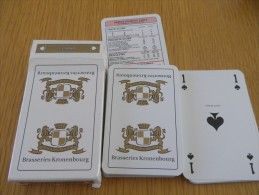 jeu de 52 cartes � jouer  - BIERES BRASSERIES KRONENBOURG