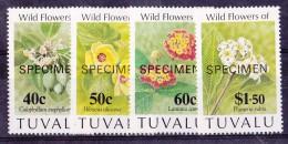 Tuvalu N°621/624 - Surchargés Spécimen - Neufs ** - Superbe - Tuvalu