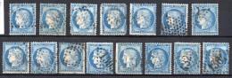 France  Bleu N° 60 Oblitérés Départ à 8€ !! - 1870 Siege Of Paris