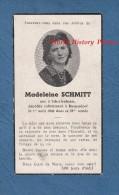 Faire-Part De Décés - Mme Madeline SCHMITT - Née à SCHERLENHEIM Et Décédée à BOSSENDORF En 1949 - Bas Rhin Alsace - Décès