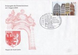 BRD Brief Erstausgabe Mit Sonderstempel MI. 2367, Wappen Der Stadt Görlitz, Görlitz 7.8.03-18 - BRD