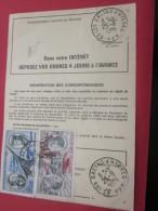 1976 -- SALINS D´HYERES  >>GRAND BORNAND >> ORDRE DE REEXPEDITION TEMPORAIRE  DOCUMENT DE LA POSTE TIMBRE Poste Aérienne - Postdokumente