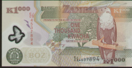 Zambia 1000 Kwacha 2008 Pick 44e UNC - Zambia