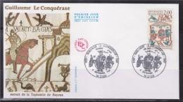 = Guillaume Le Conquérant Enveloppe 1er Jour Caen 5 9 87 N°2492 Et Ses Frères, Tapisserie De Bayeux - FDC