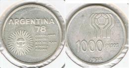 ARGENTINA 1000 PESOS MUNDIAL 1978 PLATA SILVER - Argentina