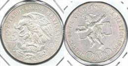 MEXICO 25 PESOS 1968 OLIMPIADA PLATA SILVER - México