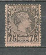 1885 MONACO 75C. CHARLES III MICHEL: 8 USED - Monaco