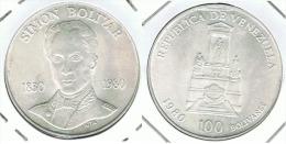 VENEZUELA 100 BOLIVARES  1980 PLATA SILVER - Venezuela