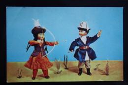 Kyrgyzstan Dolls - OLD USSR Postcard -1967 - ARCHERY - Archer - Tir à L'Arc