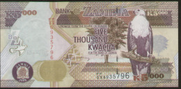 Zambia 5000 Kwacha 2008 Pick 45e UNC - Zambia